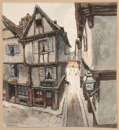 БЕНУА Александр Николаевич (1870–1960) Старинные дома. Морле. 1906