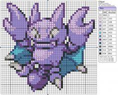 Pokémon – Gligar 40x40 - 50x50, Birdie's Patterns, E - H, Gaming, Gligar…