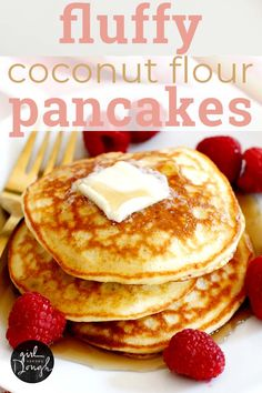 Fluffy Coconut Flour Pancakes -- This Simple And Deliciously Fluffy ! fluffy coconut flour pancakes - diese einfache und köstlich flauschige Fluffy Coconut Flour Pancakes -- This Simple And Deliciously Fluffy ! Dairy Free Pancakes, Coconut Flour Pancakes, Low Carb Pancakes, Coconut Flour Desserts, Easy Protein Pancakes, Keto Cream Cheese Pancakes, Best Keto Pancakes, Paleo Flour, Pancakes Easy