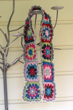 Two Little Banshees: Granny Square Scarf