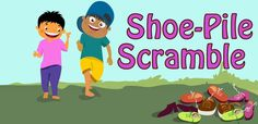 Shoe Pile Scramble Gym Games, Kids Party Games, Outdoor Games For Kids, Outdoor Fun, Operation Christmas Child Boxes, Building Games For Kids, Scramble Game, Up Game, Family Games