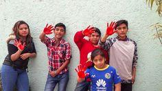 #RedHandDay : les enfants des villages SOS du monde se mobilisent en soutien aux milliers d'enfants soldats. / Crédit : SOS Villages d'Enfants