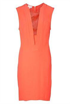 Leather Insert Dress Orange, so hot right now! #witcherywishlist