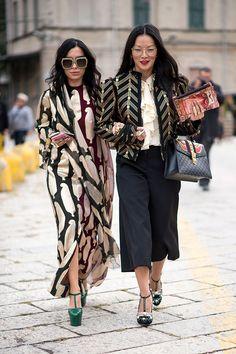 Что носят на Неделе моды в Милане: 1 часть (фото 24)