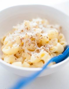 Three Cheese Brainfood Mac and Cheese Recipe--a healthy alternative for your little ones.