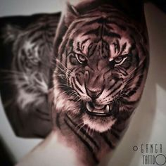 #tiger #Tattoo #blackandwhite