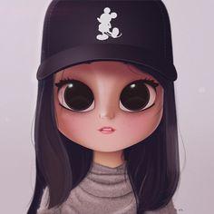 Art drawings portraits pictures ideas for 2019 Girly Drawings, Kawaii Drawings, Cartoon Drawings, Cartoon Kunst, Cartoon Art, Album Design, Cute Girl Drawing, Drawing Drawing, Drawing Sketches
