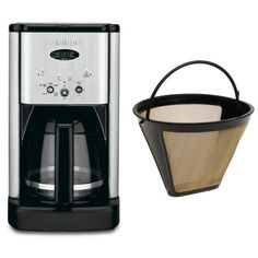 Cuisinart DCC-1200 Brew Central 12-Cup Programmable Coffeemaker, Brushed Chrome, and Filter Bundle *** Want to know more, click on the image.