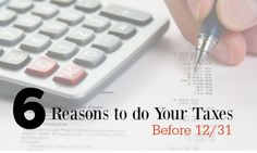 6 reasons to do your taxes early