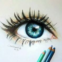 eye, blue, and drawing afbeelding