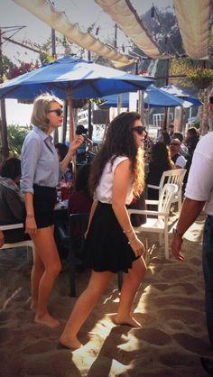 Taylor Swift and Lorde in Malibu.  2/22/14