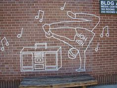 Tape Art murals based on common student interests