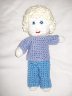 Soft cuddly crochet boy doll One off by ClementCrafts First Off, Crochet For Boys, Boy Doll, Hello Kitty, Dolls, Handmade Gifts, Etsy, Vintage, Art