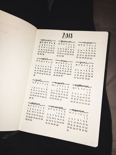 my bullet journal calendar for 2018 #bulletjournal