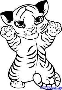 Image detail for -How to Draw a Tiger Cub, Tiger Cub, Step by Step, forest animals ...