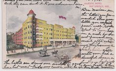 The Majestic Hotel, Hot Springs National Park, Arkansas, postmarked 1908