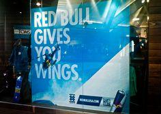Red Bull Window Graphic