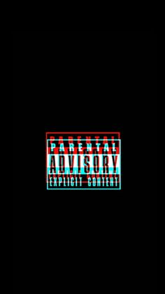 Wallpaper Parental Advisory explicit content glitch. Black/