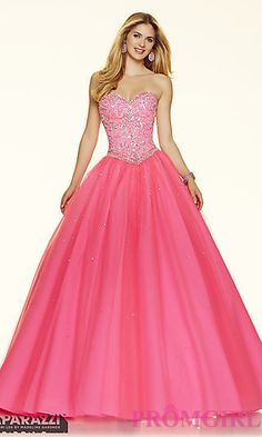 Strapless Sweetheart Mori Lee Ball Gown Style Prom Dress 98120-available in Light Blue Corset  $498
