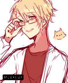 Lemme just say. Yoosung looks hella nice in glasses *-* Yoosung X Mc, Mystic Messenger Yoosung, Saeran, Fanart, Yandere, Beautiful Artwork, Anime, Sketches, Drawings