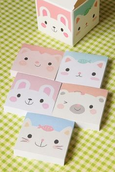 Kawaii Box Memo Set - 5 patterns #cute