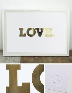 LOVE. Gold Foil Print / Black List Studio
