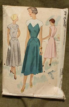 McCall 7988 Vintage 1950s  Dress Sewing by EleanorMeriwether, $12.00