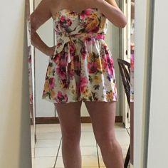 Selling this Floral romper in my Poshmark closet! My username is: urbanyoke. #shopmycloset #poshmark #fashion #shopping #style #forsale #Mustard Seed #Pants