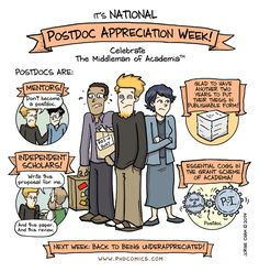 PHD Comics: #postdoc Appreciation (by Jorge Cham, 9/17/2014) #phd #doctorat