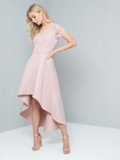 187672dd0 Rose Lace Dip Hem Dress - Chi Chi Allanna
