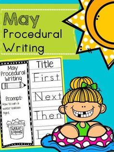 May Procedural Writing First Grade Writing, Teaching First Grade, Teaching Kindergarten, School Resources, Teaching Resources, Teaching Ideas, Holiday Activities, Preschool Activities, Elementary Teacher