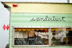 trailer-turned-vintage shop in portland, oregon