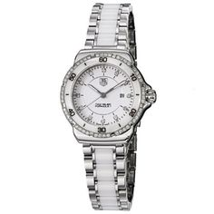 TAG Heuer Women's WAH1313.BA0868 Formula 1 White Diamond Dial Quartz Watch TAG Heuer. Save 16 Off!. $2261.94. Water-resistant to 200 M (660 feet). White dial. Stainless steel and ceramic bracelet. Diamond dial and bezel. Quartz movement