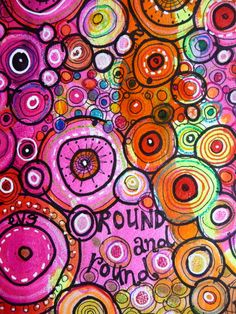 I am determined to start an art journal this year- love the colors and shapes - so much fun to look at!!!