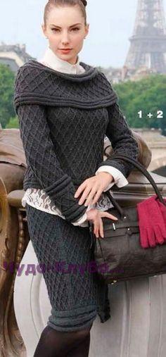 78 Элегантный костюм: юбка и пуловер