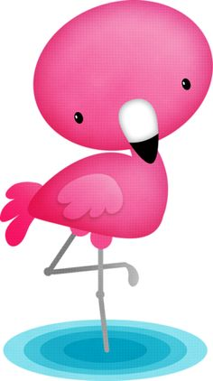 "Photo from album ""Flamingo Dreams"" on Yandex. Flamingo Clip Art, How To Draw Flamingo, Flamingo Decor, Pink Flamingos, Disney Canvas Paintings, Animal Paintings, Baby Showers, Flamingo Birthday, Kawaii Doodles"