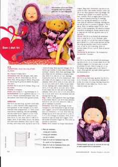 Albumarkiv - Baby Born & Build-a-Bear 3 Baby Knitting Patterns, Doll Patterns, Girl Dolls, Baby Dolls, Baby Born Clothes, Knitting Dolls Clothes, American Doll Clothes, Knitting Books, Bitty Baby