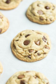Small Batch Chocolate Chip Cookies (recipe makes just 8 cookies!)
