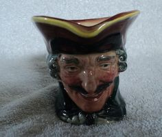 "Vintage Toby Character Jug Dick Turpin Royal Doulton Small 2 3/4""  Pistol LadyWe"