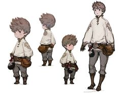 Tiz Concepts from Bravely Default.  Love the simplicity of the design