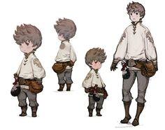 Tiz Concepts - Characters  Art - Bravely Default --Referente Personaje