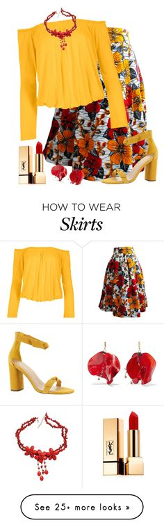 """Midi Skirt"" by foldym-sd on Polyvore featuring Venus, BCBGeneration, Yves Saint Laurent, Marni and plus size clothing"