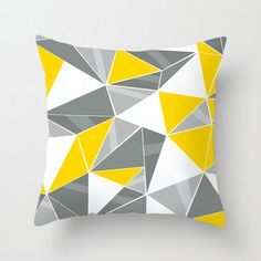 Geometric Cushion Covers Yellow And Gray Diamond Wave Pillow Covers Decorative Pillow Cases, Throw Pillow Cases, Throw Pillows, Plush Pillow, Geometric Cushions, Geometric Throws, Cushion Covers, Pillow Covers, Mandala