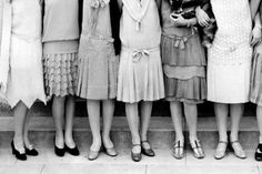 20's. the length of these flowy skirts are lovely....