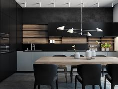 Black Modular Kitchen Designs - Interior Design Ideas and Inspirations | Ideas | PaperToStone