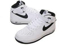 Nike Air Force Black And White High