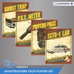 I'm entered to win a set of #Ghostbusters Tech Posters courtesy of QMx & Loot Crate! #QMxQuesdays
