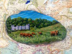 Caerhays Castle, Cornwall, acrylic on slate Cornwall, Slate, Castle, Paintings, Art, Art Background, Chalkboard, Painting Art, Painting