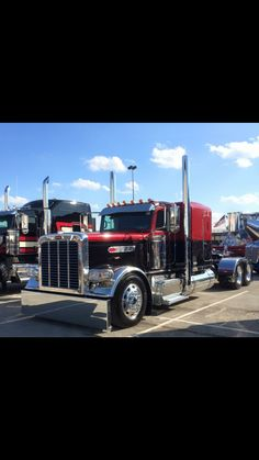 Red and Black - Peterbilt 379