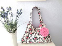 Pink & Ink Lively Bag by ThePlumPinCushion on Etsy, $42.00